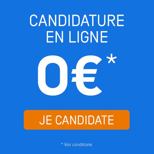 Frais de candidature à 0 euros