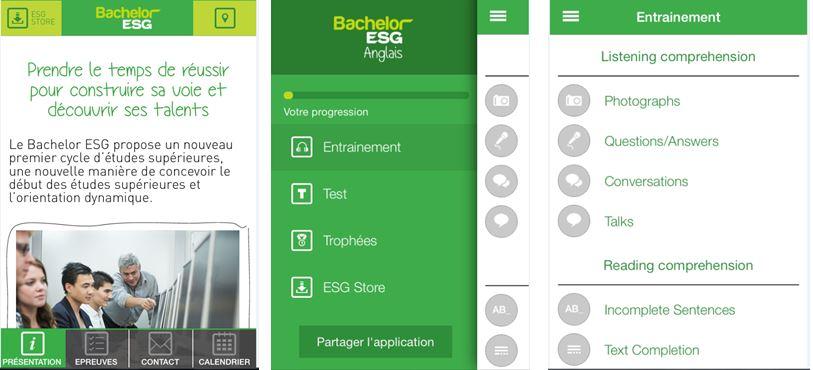 application bachelors ESG