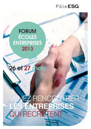 Forum Ecoles Entreprises du Pôle ESG