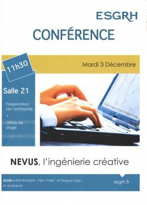 Retour sur la conférence de l'entreprise Nevus
