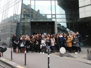 Les étudiants en visite au Conseil des Prud'hommes