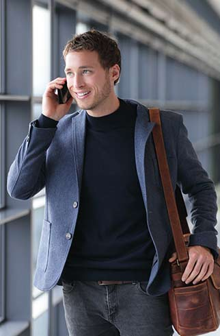 homme telephone