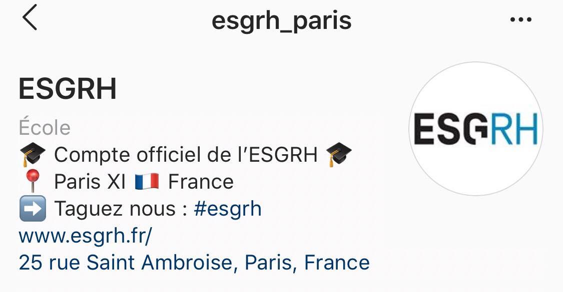 ESGRH Instagram